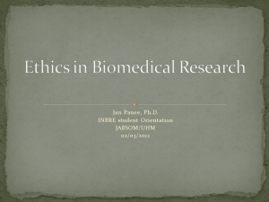 Ethics in Biomedical Research